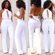 fitted jumpsuit fashion white fitted halter jumpsuit xfk030363wi