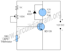 temperature activated light switch simple temperature controlled dc fan circuit diagram