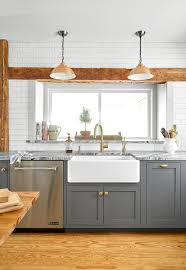 grey kitchen cabinets wood floor 25 winning kitchen color schemes for a look you ll