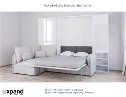 Plush Sofa Bed Murphysofa Adagio Luxury Sectional Sofa Wall Bed Expand