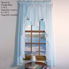 sea glass ii semi sheer swag valance window treatment