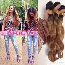 pictures of black ombre body wave curls bob hairstyles 2 tone dark root colored 1b 27 ombre virgin hair brazilian body