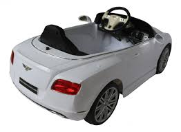 bentley sports car white bentley continental gt licensed 12v electric ride on car white