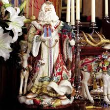 enchanted santa figurine by fitz and floyd