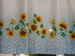 Kitchen Curtains Blue Sunflower Kitchen Curtains Roselawnlutheran