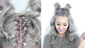 sparkly hair how to glitter roots hairstyle by tashaleelyn