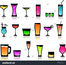 martini shaker clip art icons different cocktail glasses stock vector 46204207 shutterstock