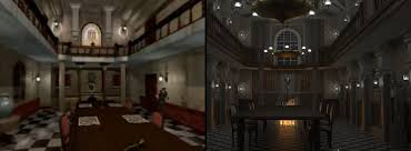 resident evil mansion dining hall renders article hive rd blog