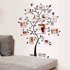 online get cheap butterfly families aliexpress com alibaba group home decoration family photo picture album frame tree butterfly flower heart mural wall sticker house decor