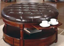 coffee tables pretty large round storage ottoman coffee table