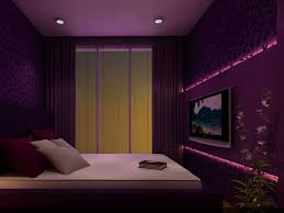 Wall Mounted Lights For Bedroom Small Space White Purple Room Ideas Purple Bedroom Decorating
