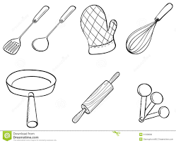 7 Black And White Kitchen by Drawn Kitchen Cooking Utensil Pencil And In Color Drawn Kitchen