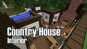 Minecraft Interior Design by Minecraft Country House Interior Design Youtube