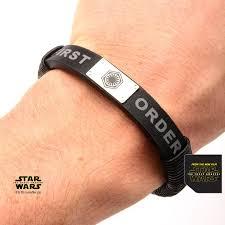 steel leather bracelet images Star wars episode 7 first order logo leather bracelet jpg