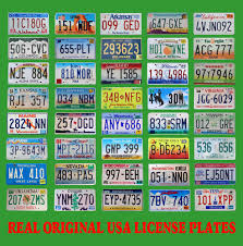 Usa License Plate Map by 40 United States License Plates Lot Number Tag Original Usa