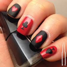 ncu u2013 red u0026 black red black black and vegas nails