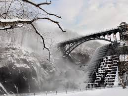 bridges bridge snow winter ice sky stair tree cool wallpapers for