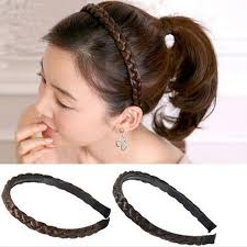 braided hair headband women fashion twisted wig braid hair band trendy simple artificial