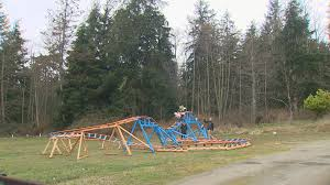 100 roller coaster in backyard backyard roller coaster for