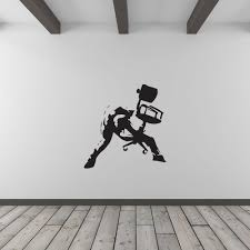 banksy rockstar office worker vinyl wall art decal for home decor