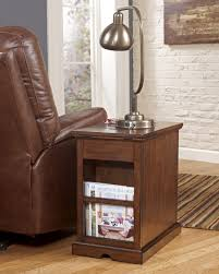 nightstand simple furniture oak wood chairside end table with