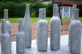 silver wine bottles diy silver glitter wine bottle vases style sidebar