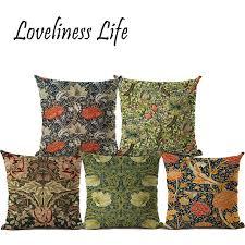 coussin de luxe pour canapé nordique vintage housse de coussin naturel fleur géométrique