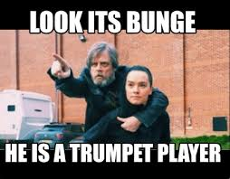 Trumpet Player Memes - meme creator look its bunge he is a trumpet player meme generator