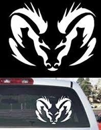 dodge ram logo history amazon com dodge ram badge rear window decal automotive