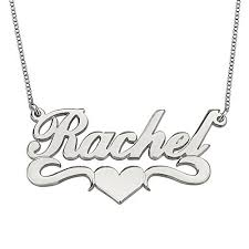 Custom Made Name Necklace Hacool Personalized Name Necklace Pendants In 18k Gold Plated