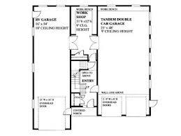 Rv Garage Floor Plans Tandem Garage Plans Tandem Garage Plan With Workshop Rv Bay And