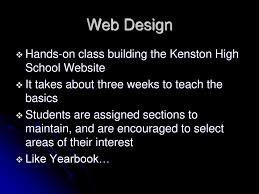 high school web design class block ppt
