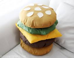 Diy Room Decor Easy Owl Pillow Sew No Sew Diy Stackable Burger Pillow Please Note Burgers Pillows And Note