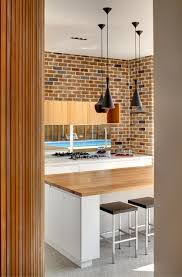 Modern Brick Wall by Modern Interior Design Eclectic Kitchen Design Near Brick Wall