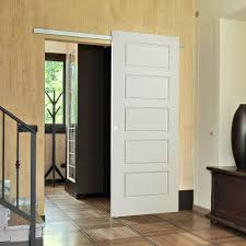 solid interior doors home depot masonite 30 in x 84 in riverside primed solid 5 panel equal