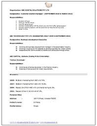 Mba Resume Format by Resume Format For Freshers Mba Hr 100 Original Papers Www