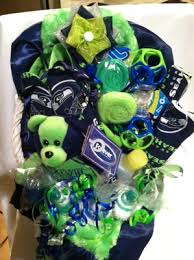 seattle gift baskets seattle seahawks themed baby gift basket tiny twelves etc
