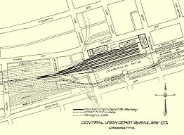 Union Station Chicago Map by Railroads 2