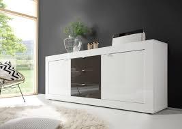 wohnzimmer sideboard sideboard weiss anthrazit lack woody 12 00914 modern jetzt