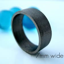 wedding band material 7mm wide wedding band black gold ring personalize and