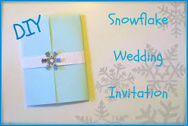 Snowflake Wedding Invitations How To Make Diy Snowflake Wedding Invitation Youtube