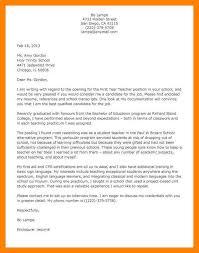 8 teacher cover letter format job apply form