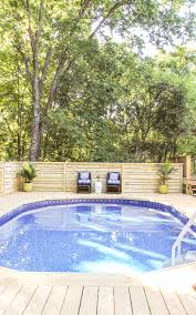 how to make an above ground pool look inground pool deck ideas