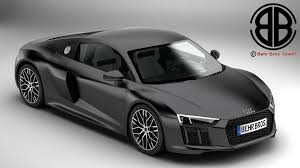Audi R8 All Black - 3d model audi r8 v10 2016 cgtrader