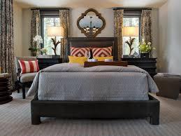 mediterranean bedroom furniture dark brown varnish wooden flooring