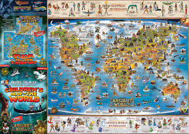 Ancient World Map by Children U0027s Map Of The World U0026 Ancient World Back New Product