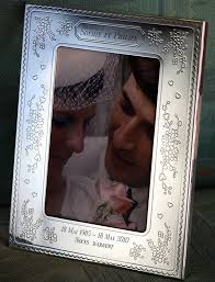 cadre photo mariage cadre anniversaire de mariage valentin gravure