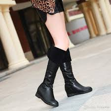womens dress boots australia 2015 warm winter knee high boots fashion lace boots