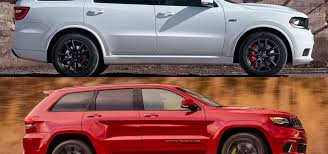 jeep grand or dodge durango styling size up dodge durango srt vs jeep grand