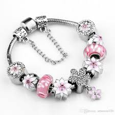 pandora glass bracelet images 925 sterling silver pink murano glass beads silver fit pandora jpg